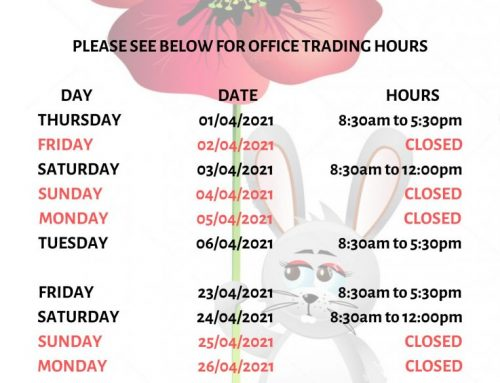 Easter & ANZAC Day Public Holidays 2021